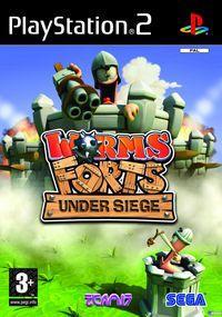 Portada oficial de Worms Forts Under Siege para PS2