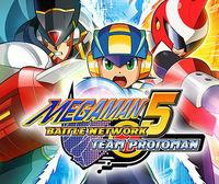 Portada oficial de Megaman Battle Network 5 Team: Protoman CV para Wii U