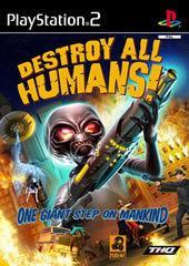 Portada oficial de de Destroy All Humans! para PS2
