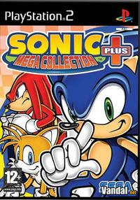 Portada oficial de Sonic Mega Collection Plus para PS2