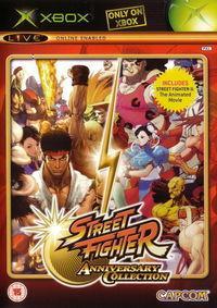 Portada oficial de Street Fighter Anniversary Collection para Xbox