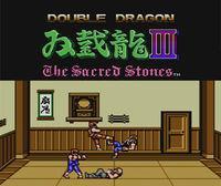 Portada oficial de Double Dragon III: The Sacred Stones CV para Wii U