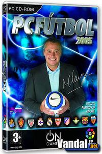 Portada oficial de PC Fútbol 2005 para PC