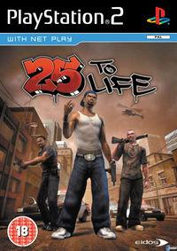 Portada oficial de 25 to Life para PS2