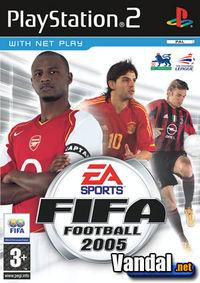 Portada oficial de FIFA Football 2005 para PS2
