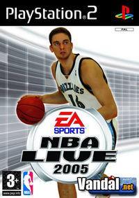 Portada oficial de NBA Live 2005 para PS2