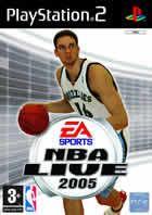 Portada oficial de de NBA Live 2005 para PS2