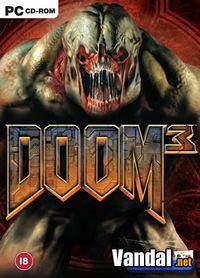 Portada oficial de Doom III para PC