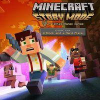 Portada oficial de Minecraft: Story Mode - Episode 4: A Block and a Hard Place para PS4