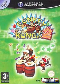 Portada oficial de Donkey Konga 2 Hit Songs Parade para GameCube