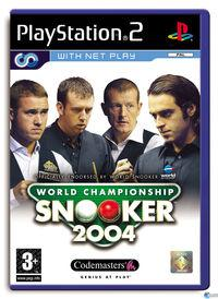 Portada oficial de World Championship Snooker 2004 para PS2