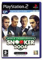 Portada oficial de de World Championship Snooker 2004 para PS2