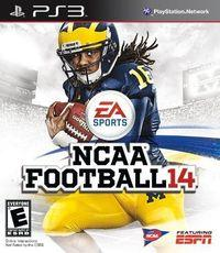 Portada oficial de NCAA Football 14 para PS3