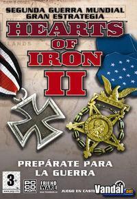 Portada oficial de Hearts of Iron 2 para PC