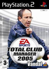Portada oficial de Total Club Manager 2005 para PS2