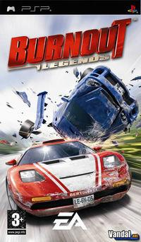 Portada oficial de Burnout Legends para PSP