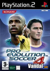 Portada oficial de Pro Evolution Soccer 4 para PS2