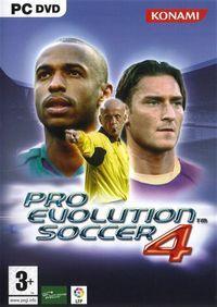 Portada oficial de Pro Evolution Soccer 4 para PC