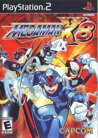 Portada oficial de Megaman X8 para PS2