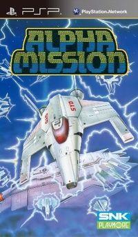 Portada oficial de Alpha Mission para PSP