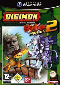 Portada oficial de Digimon Rumble Arena 2 para GameCube