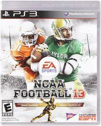 Portada oficial de NCAA Football 13 para PS3