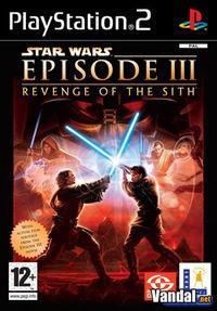 Portada oficial de Star Wars Episodio 3: La Venganza de los Sith para PS2