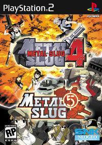 Portada oficial de Metal Slug 4 para PS2