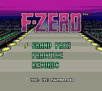 Portada oficial de F-Zero CV  para Nintendo 3DS