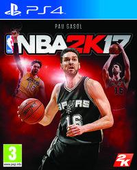 Portada oficial de NBA 2K17 para PS4