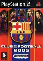 Portada oficial de de FC Barcelona Club Football 2005 para PS2