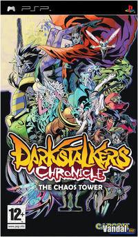 Portada oficial de Darkstalkers Chronicle: The Chaos Tower para PSP