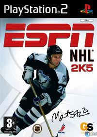 Portada oficial de ESPN NHL 2005 para PS2