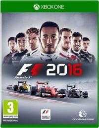 Portada oficial de F1 2016 para Xbox One