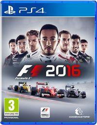 Portada oficial de F1 2016 para PS4