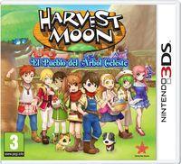 Portada oficial de Harvest Moon: El Pueblo del Árbol Celeste para Nintendo 3DS