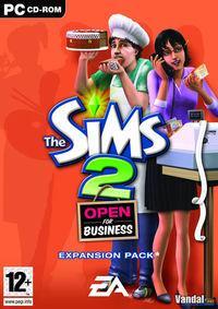 Portada oficial de Los Sims 2 Abren Negocios para PC