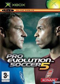 Portada oficial de Pro Evolution Soccer 5 para Xbox