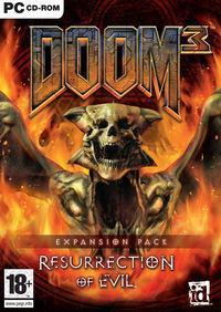 Portada oficial de Doom 3: Resurrection of Evil para PC