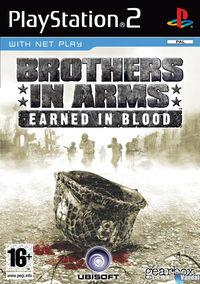 Portada oficial de Brothers in Arms: Earned in Blood para PS2