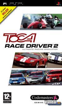 Portada oficial de TOCA Race Driver 2 para PSP