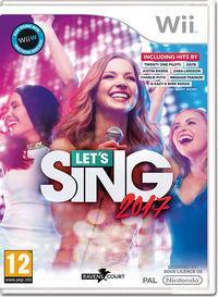 Portada oficial de Let's Sing 2017 para Wii