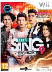 Portada oficial de Let's Sing 9 Versión Española para Wii