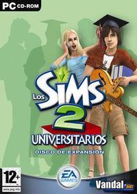 Portada oficial de Los Sims 2 Universitarios para PC