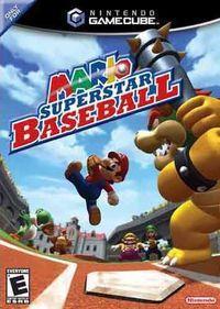 Portada oficial de Mario Baseball para GameCube