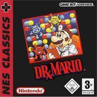 Portada oficial de Dr. Mario NES Classics para Game Boy Advance