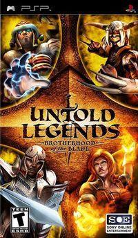 Portada oficial de Untold Legends: Brotherhood of the Blade para PSP