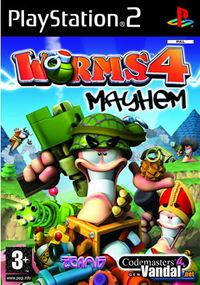 Portada oficial de Worms 4: Mayhem para PS2