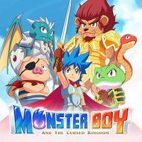 Portada oficial de Monster Boy and the Cursed Kingdom para Switch