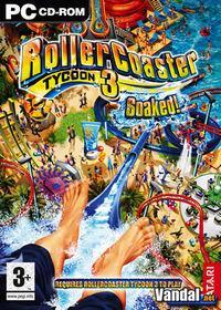 Portada oficial de RollerCoaster Tycoon 3: ¡Empapados! para PC